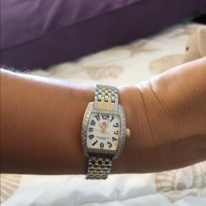 Michele urban mini petite diamond watch